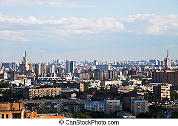 summer skyline of Moscow