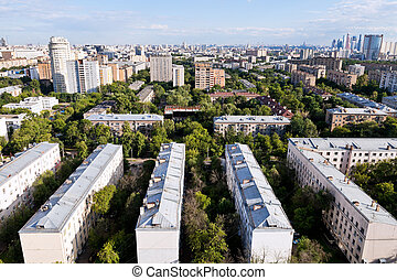 urban panorama of Moscow - panorama of Moscow in summer...