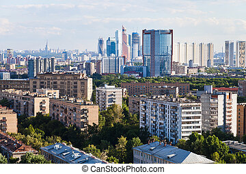business and residential areas in Moscow - business and...