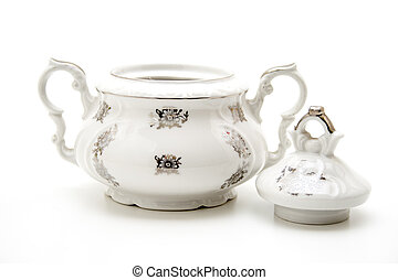 Sugar bowl of porcelain