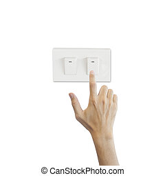 Press lighting switch with hand