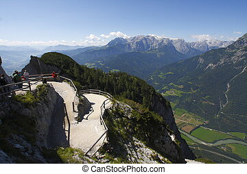Austria : the terrace - Austria : large panorama of the...