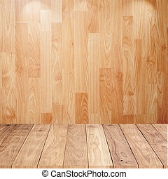 Wood background with wood floor