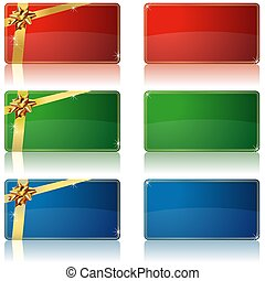 Holiday Banners - colored tags illustration