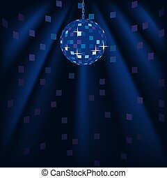 Disco Background - colored illustration