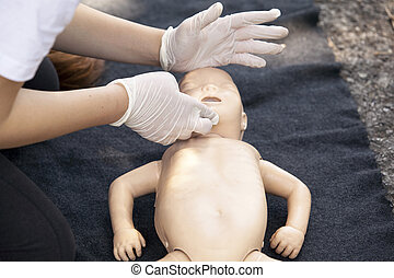 first aid - Infant dummy first aid