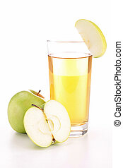 isolated apple juice