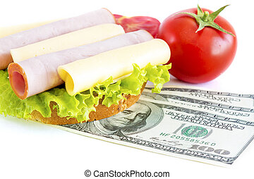 Expensive sandwich Costs for food
