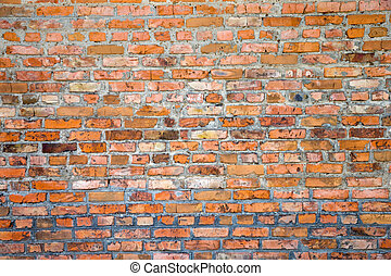brick wall texture - old red brick wall texture background