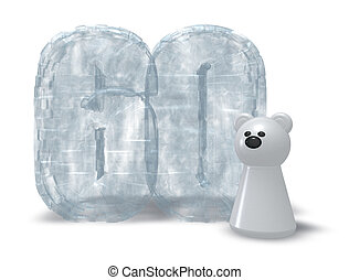 ice number and polar bear