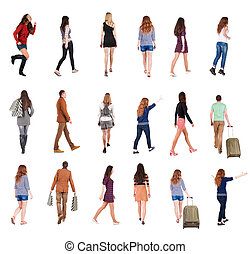 collection quot; back view of walking people quot; -...