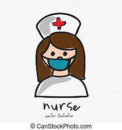 nurse design over white background vector illustration