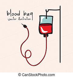 blood bag over pink background vector illustration