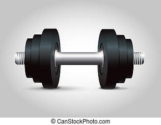 Black Dumbbell vector