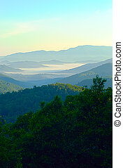 early morning on blue ridge parkway - early morning nature...