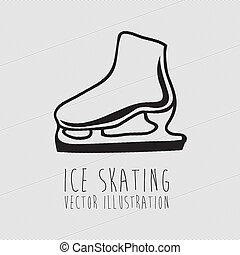 ice skating, - ice skating over white background vector...