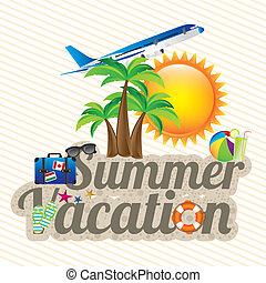 summer vacation design over white background vector...