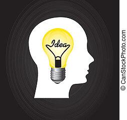idea design over black background vector illustration
