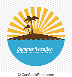 summer vacations - summer vacation over lineal background...