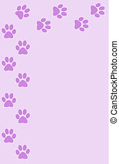 Stationary - Lavendar paw print stationary