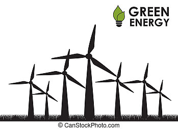 green energy over white background vector illustration