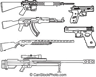 Firearms - Automatic and semi-automatic fire-arms A set of...