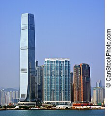 Hong Kong Cityscape - High Rises in Kowloon, Hong Kong SAR,...