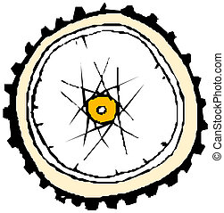 Bike wheel - vector