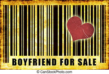 Boyfriend For Sale on Abstract Art Background