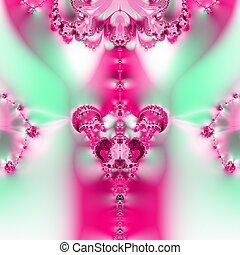 Floral, fractal design