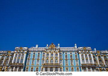 (pushkin), Palácio,  katherine's,  Tsarskoye,  Selo, são,  Petersburg,  rússia