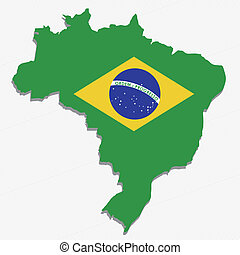 brazil design over white background vector illustration