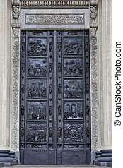 ancient decorated door, Kazan Kathedral