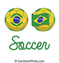 brazilian soccer over white background vector illustration