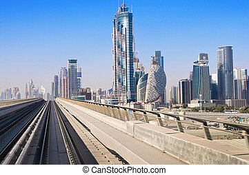 A general view of the metro Dubai, United Arab Emirates