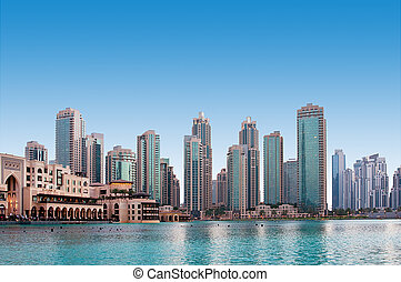 A general view of a residential area of Dubai, UAE