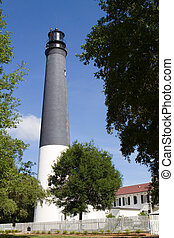 Lighthouse Pensacola - Pensacola lighthouse, built in 1858,...