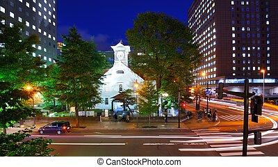 Sapporo Clock Tower - SAPPORO - OCTOBER 19: Sapporo Clock...