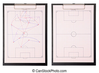 playing field - Set of a soccer playing field drawing on...