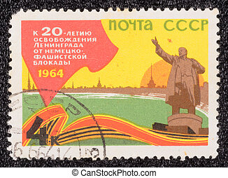 Postage stamp - USSR - CIRCA 1964: A stamp printed in the...