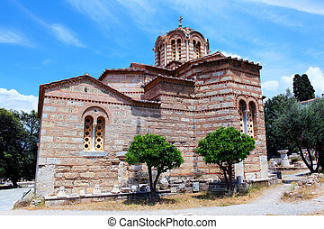 Church of the Holy Apostles, 10th century A.D., Athens,...