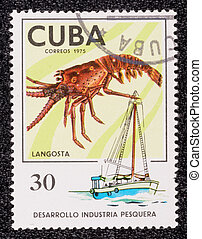 Postage stamp - CUBA - CIRCA 1975: A stamp printed in the...