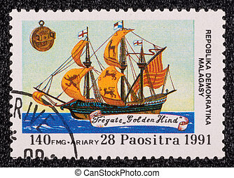 Postage stamp - REPUBLICA MALAGASY - CIRCA 1991: A stamp...