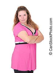 20s brunette woman - one plus size twenties brunette model...