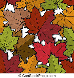Seamless pattern from  maple leaves