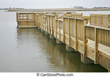wood pier in the water