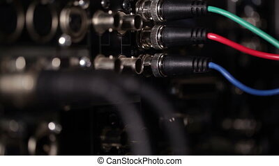 Focus pulling from rgb video cables to audio xlr cables on...