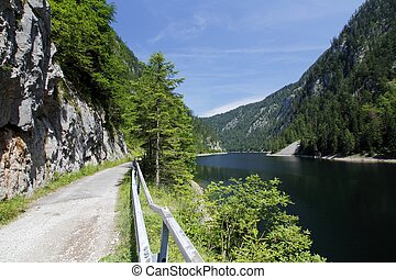 Austria lake panorama - Austria : beautiful panorama of the...