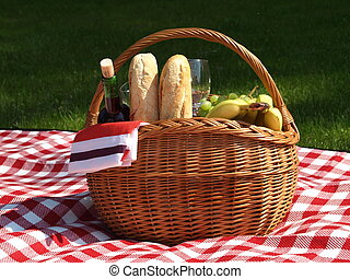 Picnic basket - Basket prepared for the picnic in the park