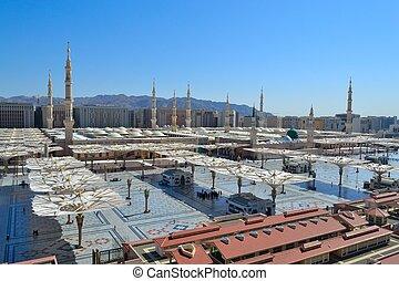 profeta, mezquita, medina, mediodía
